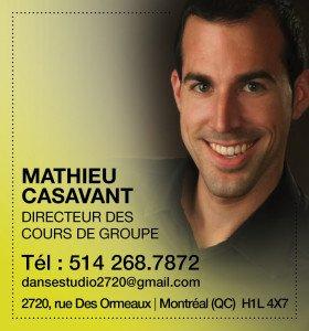 Mathieu Casavant - Directeur des cours de groupe