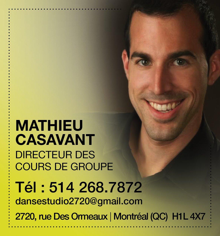 Mathieu Casavant - Directeur des cours de groupe, Studio2720