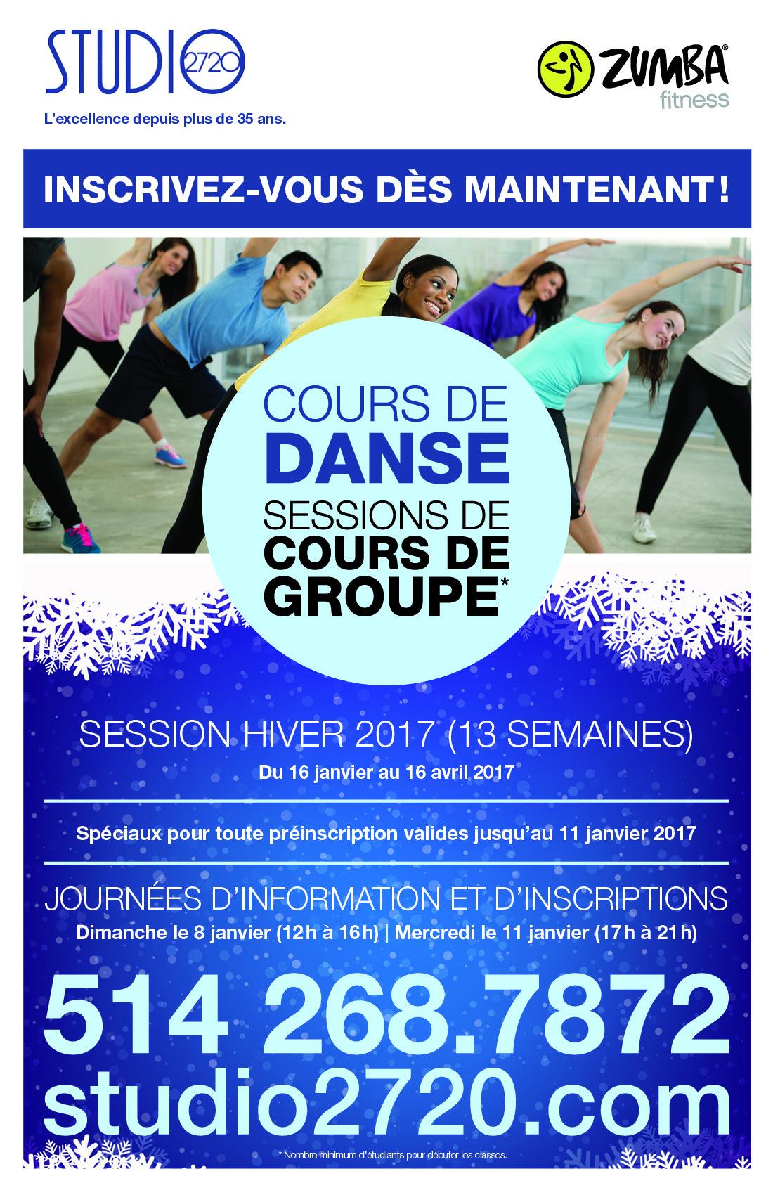 Cours de danse et zumba Montréal - Studio2720