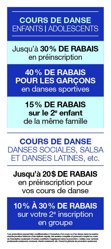 Promotions danse Montréal - Studio2720
