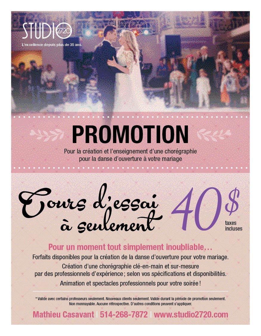 Cours de danse mariage Montréal - Studio2720